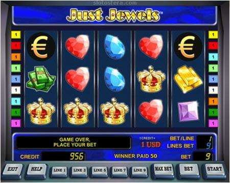 Just Jewels Spielautomat - Reichtümer auf fünf Rollen